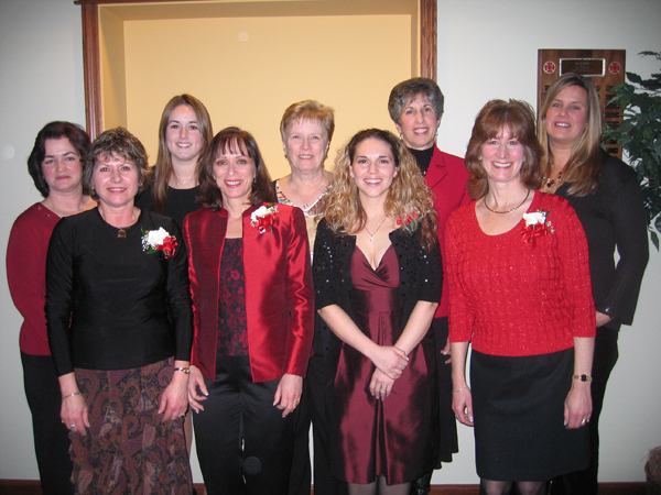 Auxiliary members pictured at 2008 Installation Dinner